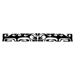 Red And Black Maori Polynesian Bracelete Tatto Pattern On White